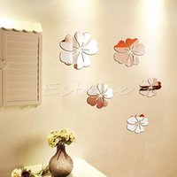abstract acrylics - New Hot Mirror Style Flowers Removable Decal Vinyl Art Wall Sticker Home Decor