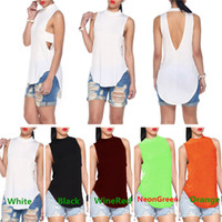 sleeveless halter top - New Arrivals Womens Ladies Blouse Tank Vest T Shirt Tops Polyester Halter Neck Backless Sleeveless Sexy Fashion DX212