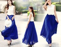 Cheap Chiffon Long Skirt Best Pure colors Free size skirts