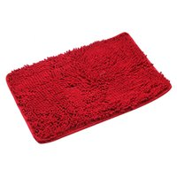 Wholesale Bathroom Floor Mats Non Slip Shaggy Rugs Doormat Thick Shag Pile Red New K5BO