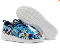 Cheap Cheap Fashion Men Women Roshe Run Running Shoe Blue Sky Palm Trees Sunset Floral Vintage Athletic Casual Sports Shoes DropShiphip Size 36-45