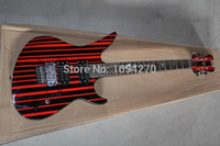 Wholesale Top quality synyster custom in red black line electric guitar Schecter electric guitar
