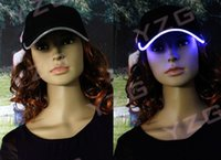 Wholesale DHL Baseball Caps with Led Lights led colors Led Lighting Baseball Caps with adjustable fastening