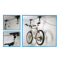 bicycle bike lift - Ceiling Mounted Hanging Bicycle Bike Lift Bicycle Wall Hanging Rack Bicycle Wall Hook Bicycle Display Stand Rack Y1340
