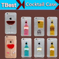 plastic beer glasses mugs - Phone Case for iPhone s quot Plus quot s Liquid Quicksand Red Wine Cocktail Glass Beer Mug Bottle Transparent Back Cover