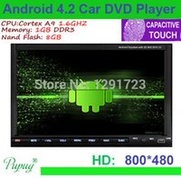 Wholesale Hotest INCH Capacitive Android Car DVD Player GPS Wifi G Bluetooth DIN universal Video Stereo Car Radio Video Audio PC Car DVD Vide