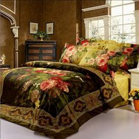 Cheap Hot sale!100% cotton bed linen luxury Oil painting vivid High-quality queen king size 3d bedding set bedclothes bed cover 1000TC