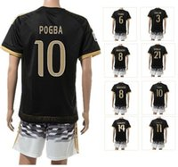 Wholesale 15 new MONTOLIVO MARCHISIO Sports soccer jerseys Set Customized pogba Top Football Jersey Wear kits Cheap uniforms Wear
