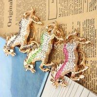Wholesale Full RhinestoneNew Crystal Horse Keychain Alloy Keyring HandBag Charm Real Gold Plated Best Present Christmas Gift