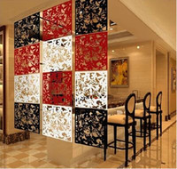 bamboo folding screens - Hanging folding screen set pieces Fashion partitions Entranceway door TV cutout grilles