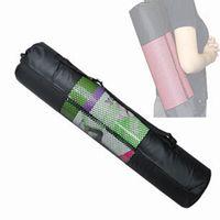 Wholesale Portable Yoga Nylon Bag Pilates Mat Carrier Mesh Bags Center Adjustable Strap Yoga Product