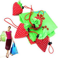 strawberry folding shopping bag - Portable Cute Strawberry Bags Eco Reusable Shopping Bags Tote Folding Foldable Bags