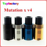 bearing pins - Mutation X V4 Atomizer RDA Atomizer Vaporizer E Cigarette wtih Wide Bore Drip Tips mm floating pin colors new model DHL Free