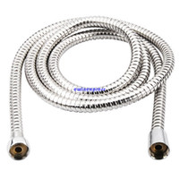 bathroom shower heads - Hot sale top quality m Flexible Stainless Steel Chrome Standard Shower Head Bathroom Hose Pipe New