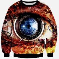 bape camera - Raisevern new D sweatshirts camera lens big eye print top hoodies skulls d sweatshirt hoody long sleeve casual pullovers FG1510