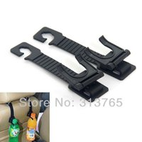 Wholesale Car Seat Back Handy Hook Shopping Bag Hanger Drink Bottle Holder Organizer Black Universal