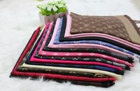 Wholesale cm cm New Fashion Style Brand Women High Quality Silk Scsrf Square Scarf Lady Designer Shawl Cashmere Scarf DNS