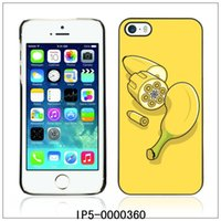 Cheap Banana Gun Funny Illustration-FOR iPhone 5 5S Plastic Hard Back Case Cover Shell (IP5-0000360)