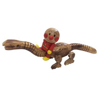 Wholesale Kids Role playing toys classic wooden Dinosaur doll and Anpanman Robot for baby