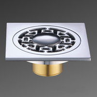 bathroom shower tiles - Floor Drain Grate Waste mm Square Solid Brass Chrome Bathroom Shower Tile NEW