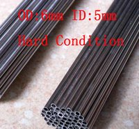 Wholesale 6x0 mm Hard Condition Stainless Steel capillary small pipe stainless steel tube about mm pc