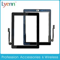 Wholesale Original Touch Screen Glass Panel Digitizer Repair Part for Apple ipad Black White