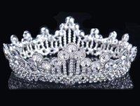 Cheap NEW Luxury Royal princess Baroque rhinestone Wedding Crowns Bridal Veil Tiara Crown Headband performance crowns 15*4.5CM HH12