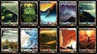 Wholesale 40pcs mtg dual land Unofficial diy card game english version board games Magic the Gathering proxy MTG cards free ok
