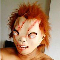 Wholesale Chucky Full Head Mask - hot 2015 new CHUCKY Mask Latex Full Head Adult Costume Halloween Creepy Scary Mask Free shipping 0409bbaa
