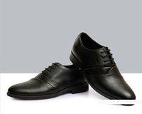 Wholesale 2015 Black PU leather shoes men Shoes Round Toes men wedding shoes bridegroom Shoes dress shoes business Fashion Shoes For Groomsmen