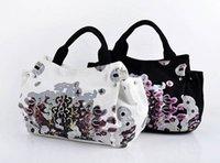 Cheap Hot selling Women's canvas bag spring and summer fashion designer handbags high quality women handbags