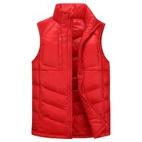 packable waterproof jackets - Mens s Winter Waterproof Packable Puffy Down Snow Sleeveless Jacket Color Chalecos Ciclismo Hombre Windstopper Vest