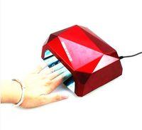 Wholesale Fashion Diamond Shaped Best Curing uv Lamp Machine UV Gel led lamp Nail Polish light to Nail tools W LED CCFL Nail Dryer