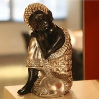 Carved best cars money - Vintage Handmade Thailand Sleeping Buddha Art Craft Ornaments Resin Crafts For Home Decor Best Gifts