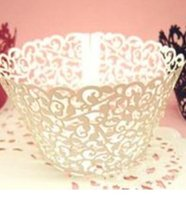 Wholesale Lace Laser Cut Cup cake Wrapper Liner Baking Cup Muffin cup Laser cutting Coconut palm Cupcake Wrapper Baking Papers Cups DDD2651