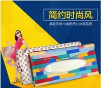 automotive sun visor - High grade automotive tissue box Auto accessories holder Paper napkin clip PVC