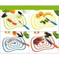 Wholesale Portable High Quality Plastic Chopping Block Non slip Frosted Antibacteria Cutting Board Vegetable Meat Essential