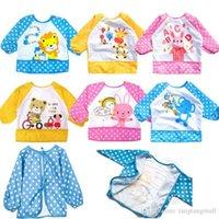 children smock - pc New Hot Cute Children Baby Todder Waterproof Long Sleeve Art Smock Bib Apron
