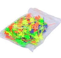 Wholesale pieces bag Multi colors PP plastic Star shapes fruit fork Fruit needle fork