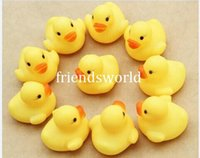 Wholesale Baby Toy Baby Bath Water Toy toys Sounds Yellow Rubber Ducks Kids Bathe Children Swiming Beach Gifts
