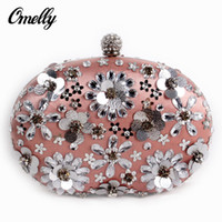 beaded metal cover - Luxury D Crystal Flower Evening Clutch Bags Fashion Evening Clutch Party Hand Bag Formal Bridal Hand Bag