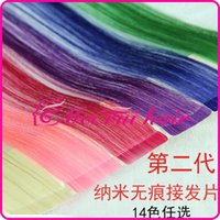 wigs and hair pieces - PU Nano invisible color hair extension piece hair piece Seamless double sided adhesive colored wig hair extension piece cm wide and two lo