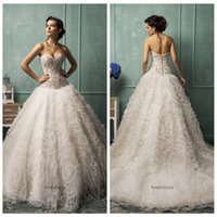 Cheap 2015 White Wedding Dresses Ball Gown Tulle Sweetheart Backless Covered Button Sleeveless Sweep Train Wedding Gowns Amelia Sposa Rebecca. New