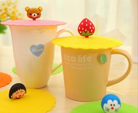 Wholesale Lovelty Cartoon Zodiac Silicone Leak Proof Cup Lid Resistant High Temperature Leak proof Dust Cup Cover Home Office Table Decoration