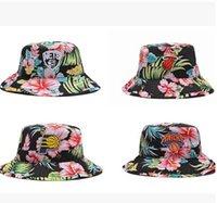 flower bucket hats - Adult Man Women Genuine Fisherman Bonnie Bob Hunting Outdoor Embroidery Summer Sun hat Hawaiian Floral Flower Bucket Hat Cap