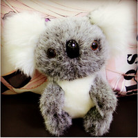 animal toy koala - 500pcs LJJC2159 New Arrival Stuffed Plush Animals Koala Bear Doll Simulation Bear Cartoon Baby Pet Soft Australia Koala Bear Toys Gift