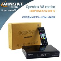 Wholesale DVB T2 and DVB S2 High digital Set Top box Satellite Receiver Openbox V8 Combo support Youtube Youporn Weather forecast google map M
