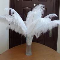 Wholesale White Ostrich Feathers quot cm Table Centerpieces Wedding Decorations Table Ostrich Feathers Centerpiece Event Decoration Many Size