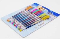 Wholesale 12pcs Frozen Gel Pen Frozen ballpoint pen different ink Colors Glitter Pen gel Pen Children s Christmas gifts