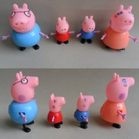 Wholesale Plastic Pig Toy Juguetes PVC Family Action Figures Baby Kid Birthday Gift